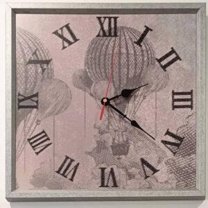 Orologio sfondo mongolfiera