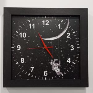orologio cornice in legno nero
