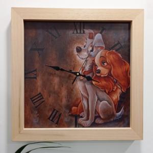 orologio legno chiaro